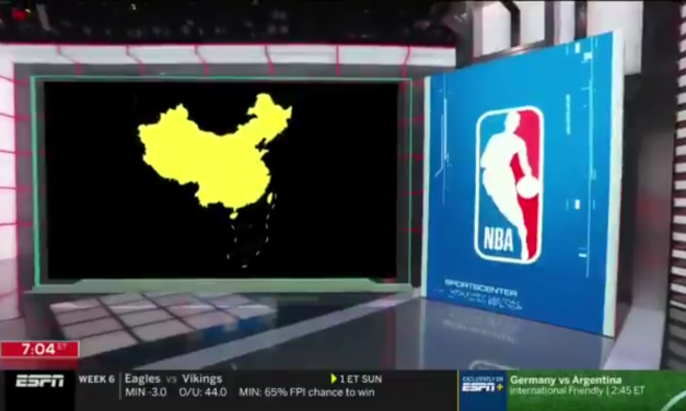 ESPN Uses Chinese Propaganda in TV Graphic