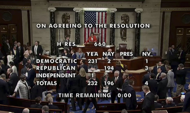 The House of Representatives held A debate and vote on impeachment inquiry resolution