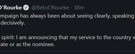 Beto O'Rourke ending presidential campaign