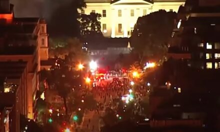 More than 50 Secret Service agents are injured in clashes outside the White House: Rioters throw Molotov cocktails in DC